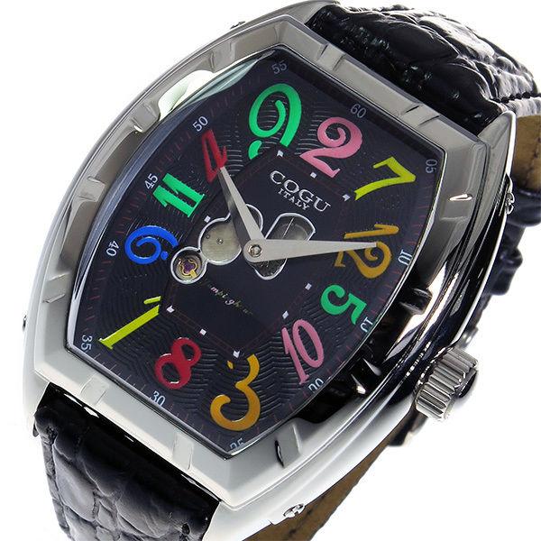 コグ COGU ジャンピングアワー 自動巻き メンズ 腕時計 JH7-BCL ブラック