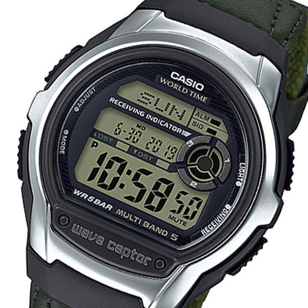 カシオ ウェーブセプター WAVE CEPTOR デジタル クオーツ メンズ 腕時計 WV-M60B-3AJF ブラック 国内正規