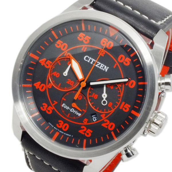 シチズン CITIZEN エコドライブ ソーラー メンズ クロノ 腕時計 CA4210-08E