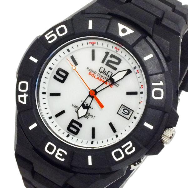 シチズン キューアンドキュー ソーラー 電波 メンズ 腕時計 HG14-304 ホワイト