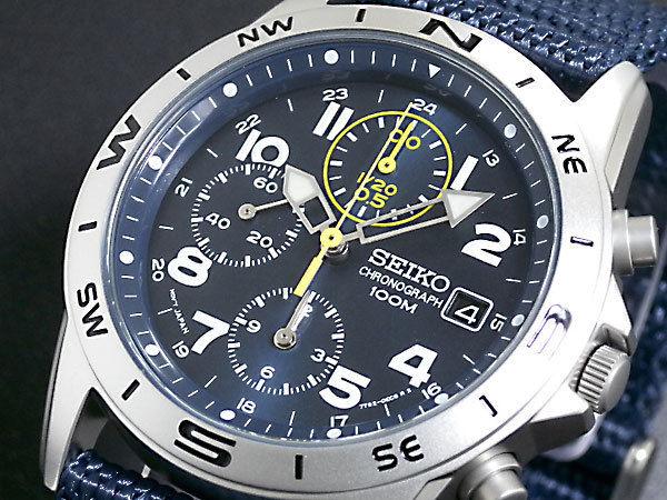 セイコー SEIKO クロノグラフ メンズ 腕時計 SND379R