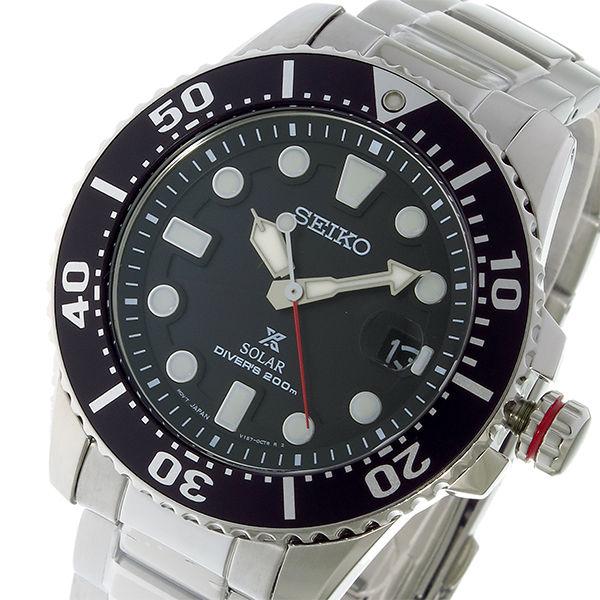 セイコー SEIKO プロスペックス PROSPEX ソーラー クオーツ メンズ 腕時計 SNE437P1 ブラック