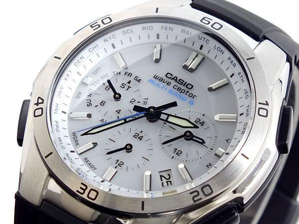 カシオ CASIO ウェーブセプター WAVE CEPTOR 電波 ソーラー メンズ 腕時計 WVQ-M410-7AJF ホワイト