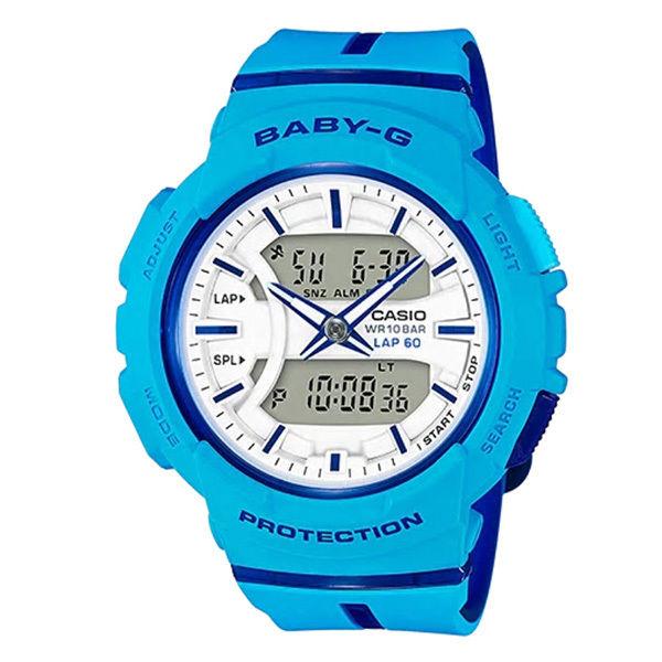 カシオ CASIO ベビーG Baby-G for running アナデジ クオーツ レディース クロノ 腕時計 BGA-240L-2A2 ホワイト