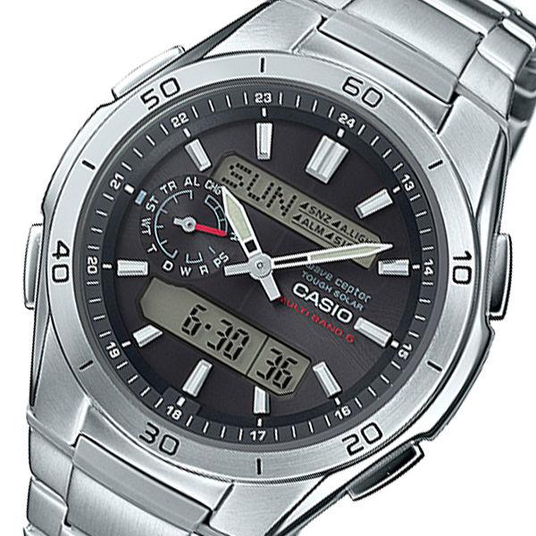 カシオ ウェーブセプター メンズ 電波 腕時計 WVA-M650D-1AJF ブラック 国内正規