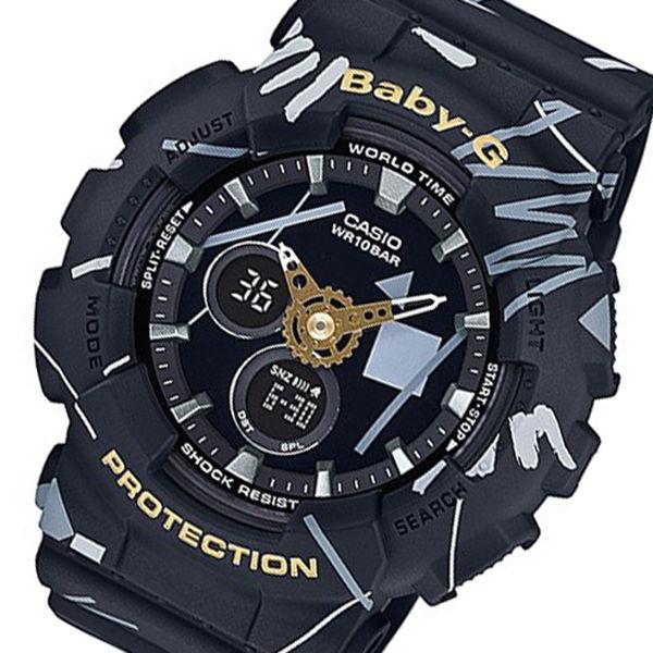 カシオ ベビーG ジオメトリック クオーツ レディース 腕時計 BA-120SC-1A ブラック