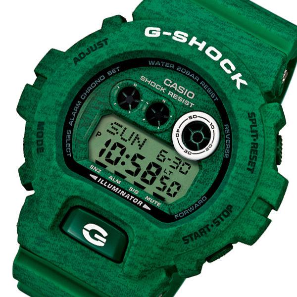 カシオ Gショック ヘザードカラーシリーズ メンズ 腕時計 GD-X6900HT-3 グリーン