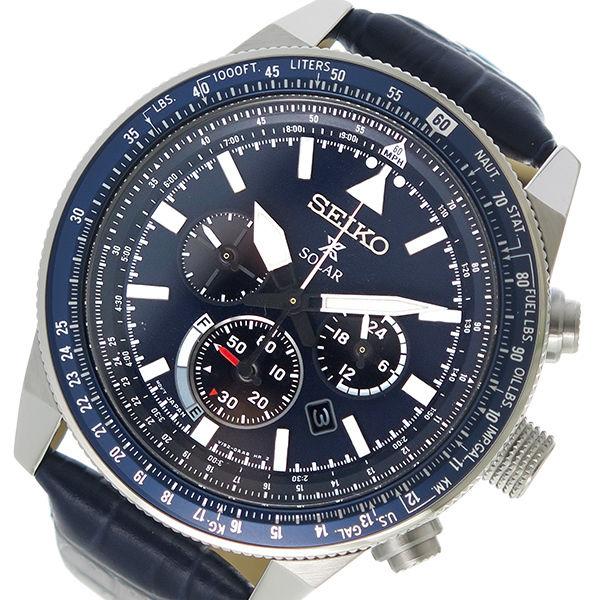 セイコー SEIKO プロスペックス PROSPEX ソーラー メンズ 腕時計 SSC609P1 ネイビー