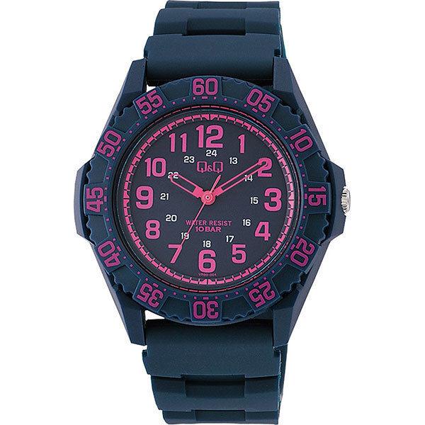 シチズン CITIZEN キューアンドキュー Q&Q 10気圧防水 メンズ 腕時計 VR80-004 ブルー