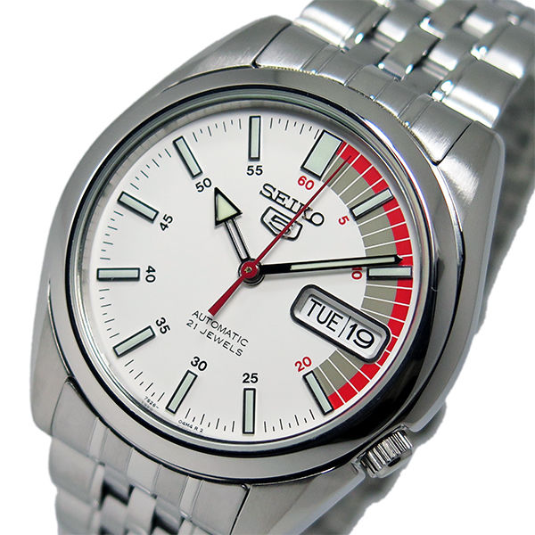 セイコー SEIKO セイコー 5 スポーツ 自動巻き メンズ 腕時計 SNK369K ホワイト