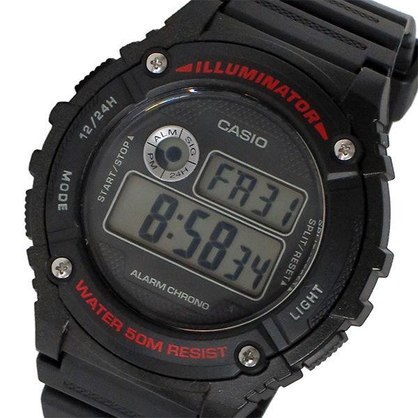 カシオ CASIO スタンダード デジタル メンズ 腕時計 W-216H-1AV ブラック
