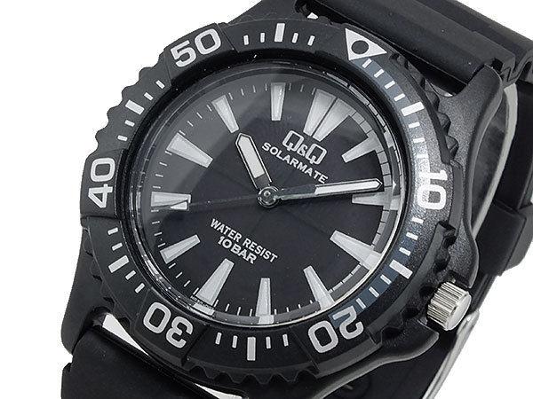 シチズン キューアンドキュー Q&Q ソーラー メンズ 腕時計 H030-001