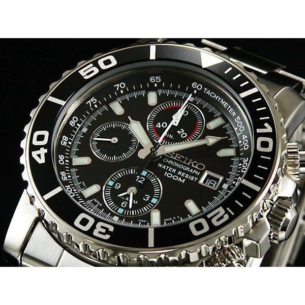セイコー SEIKO アラーム クロノグラフ メンズ 腕時計 SNA225P1