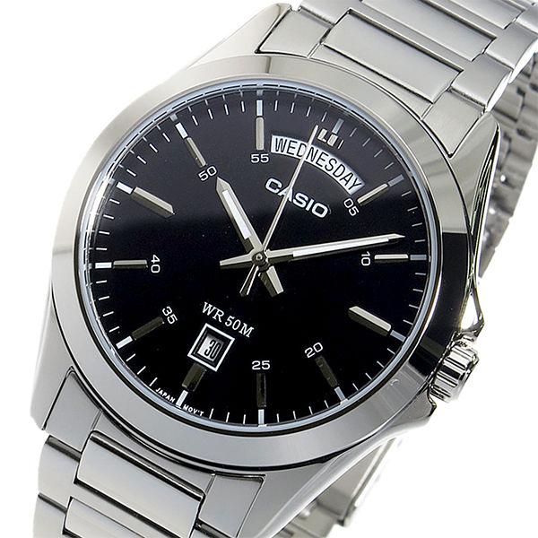 【希少逆輸入モデル】 カシオ CASIO クオーツ メンズ 腕時計 MTP-1370D-1A1VDF ブラック
