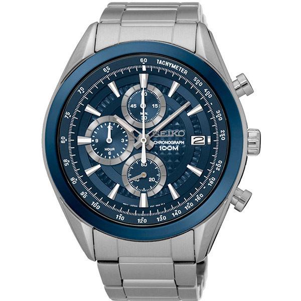 セイコー SEIKO クロノ クオーツ メンズ 腕時計 SSB177P1 ブルー