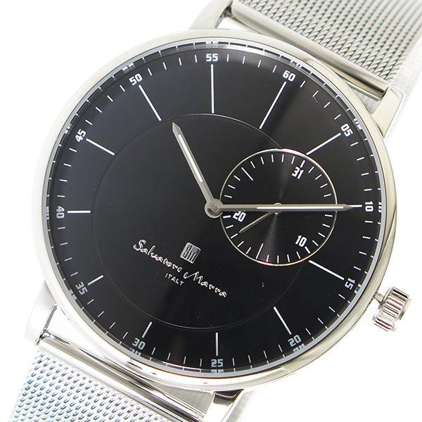 サルバトーレマーラ SALVATORE MARRA クオーツ メンズ 腕時計 SM17105M-SSBK ブラック