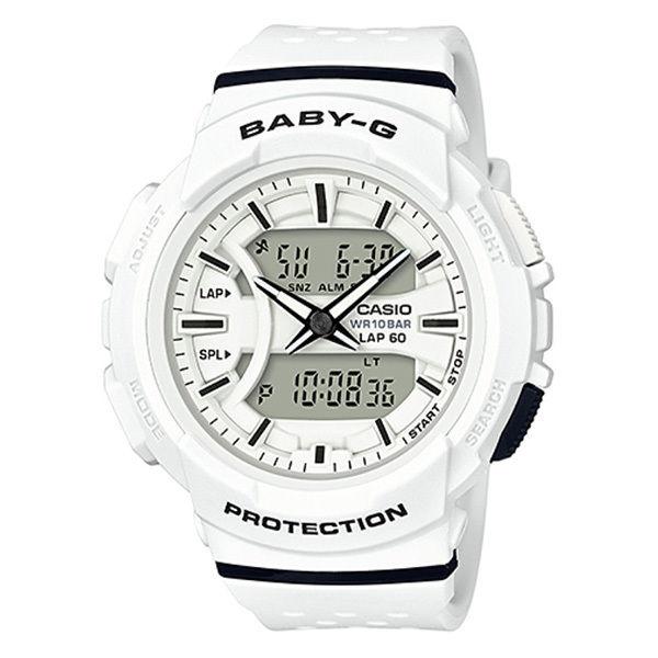 カシオ CASIO ベビーG for running アナデジ クオーツ レディース クロノ 腕時計 BGA-240-7A ホワイト