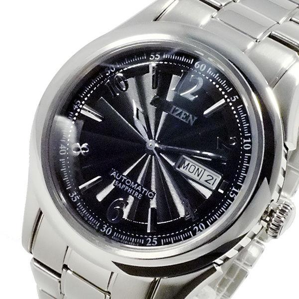 シチズン CITIZEN メカニカル 日本製 自動巻 メンズ 腕時計 NH8310-53E ブラック