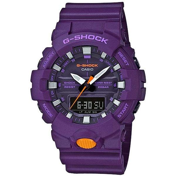 カシオ CASIO Gショック G-SHOCK スニーカーモデル アナデジコンビ アナデジ クオーツ メンズ クロノ 腕時計 GA-800SC-6A パープル