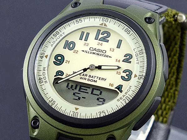 カシオ CASIO スタンダード メンズ 腕時計 AW-80V-3B