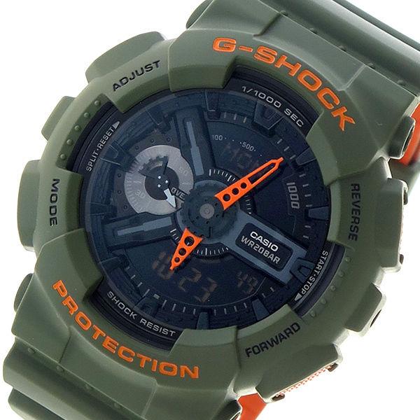 カシオ CASIO Gショック G-SHOCK クオーツ メンズ 腕時計 GA-110LN-3A ブラック