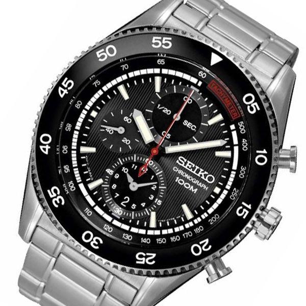 セイコー SEIKO クオーツ 高速クロノ メンズ 腕時計 SNDG57P1 ブラック