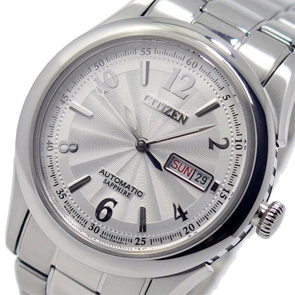 シチズン CITIZEN メカニカル 自動巻き メンズ 腕時計 NH8310-53A シルバー