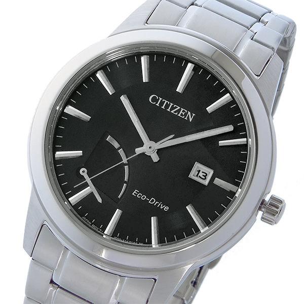 シチズン CITIZEN エコドライブ ソーラー マルチカレンダー クオーツ メンズ 腕時計 AW7010-54E ブラック