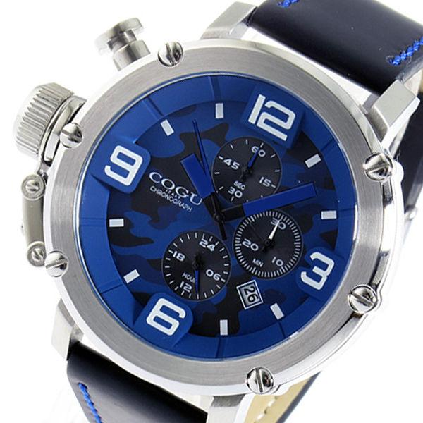 コグ COGU クオーツ クロノ メンズ 腕時計 C61-CBL ブルーカモフラ