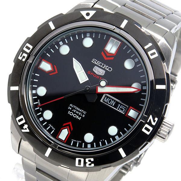 セイコー SEIKO 自動巻き メンズ 腕時計 SRP673J1 ブラック