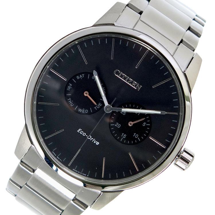 シチズン CITIZEN エコ・ドライブ クオーツ メンズ 腕時計 AO9040-52E ブラック