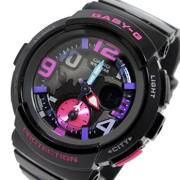 カシオ ベビーG ビーチ・トラベラー レディース 腕時計 BGA-190-1B ブラック