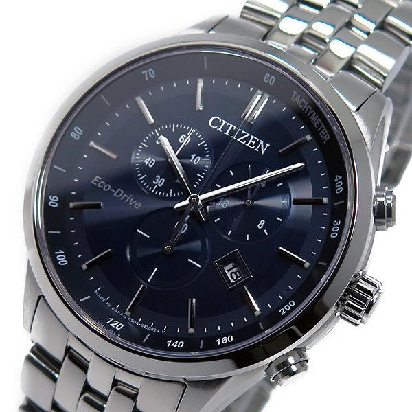 シチズン CITIZEN クオーツ メンズ クロノ 腕時計 AT2140-55L ダークブルー