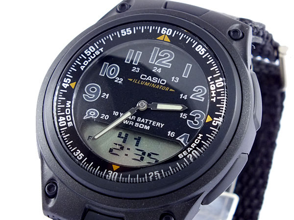 カシオ CASIO スタンダード メンズ 腕時計 AW-80V-1B