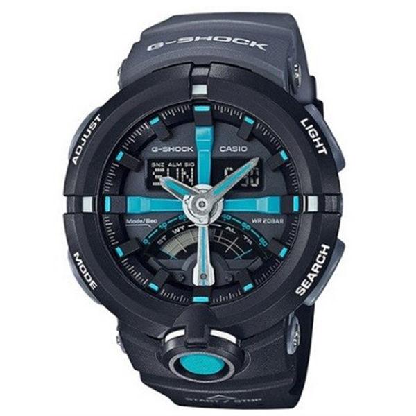 カシオ CASIO Gショック G-SHOCK パンチングパターンシリーズ メンズ 腕時計 GA-500P-1A ブラック/グレー