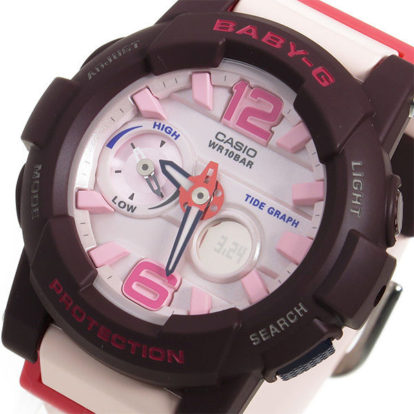 カシオ ベビーG BABY-G Gライド クオーツ レディース 腕時計 BGA-180-4B4 ピンク