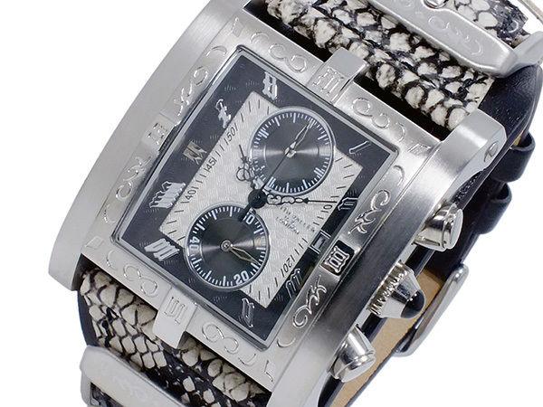 キース バリー KEITH VALLER クオーツ クロノ メンズ 腕時計 PSC-WH ホワイト