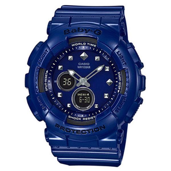 カシオ CASIO ベビーG BABY-G スタッズモチーフ クオーツ レディース 腕時計 BA-125-2A ブルー