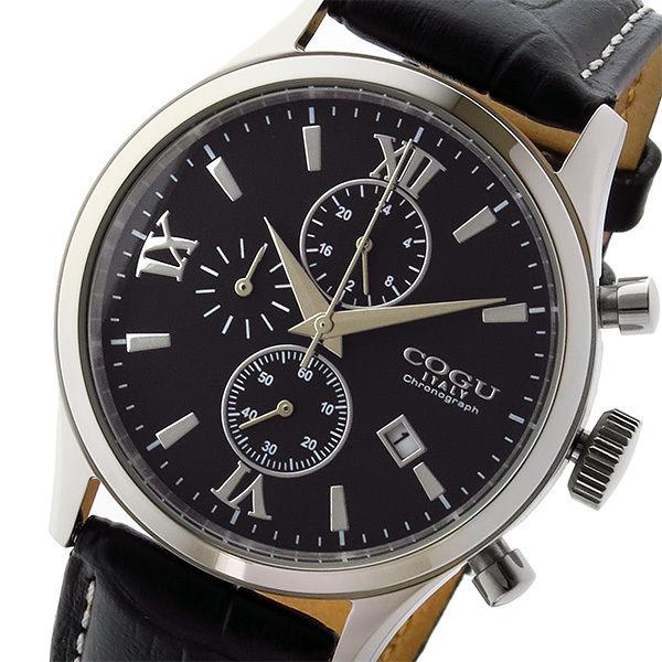 コグ COGU クオーツ クロノ メンズ 腕時計 C65-BK ブラック