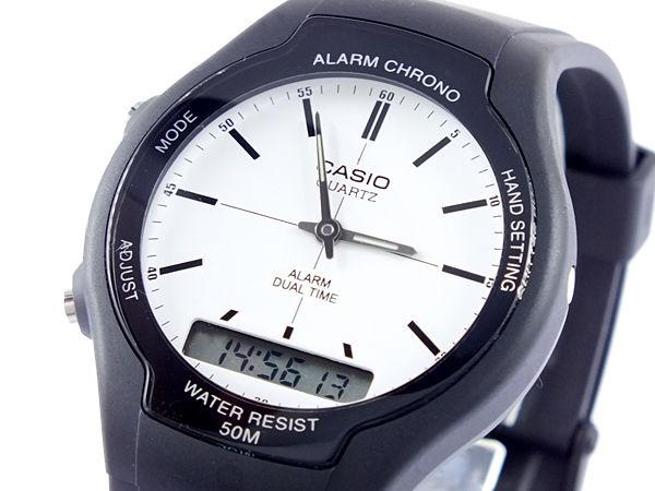 カシオ CASIO スタンダード アナデジ メンズ 腕時計 AW-90H-7E