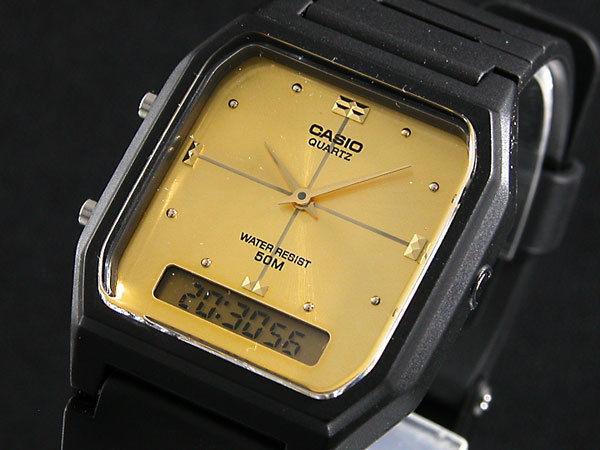 カシオ CASIO アナデジ クオーツ メンズ 腕時計 AW48HE-9A ゴールド/ブラック