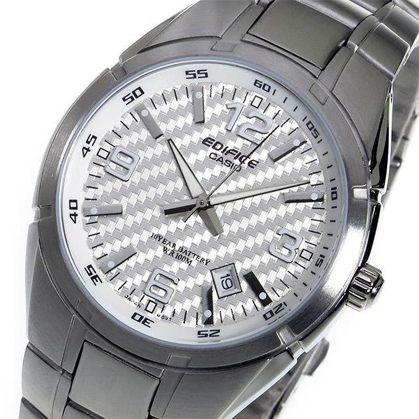 カシオ エディフィス クオーツ メンズ 腕時計 EF-125D-7AV ホワイト