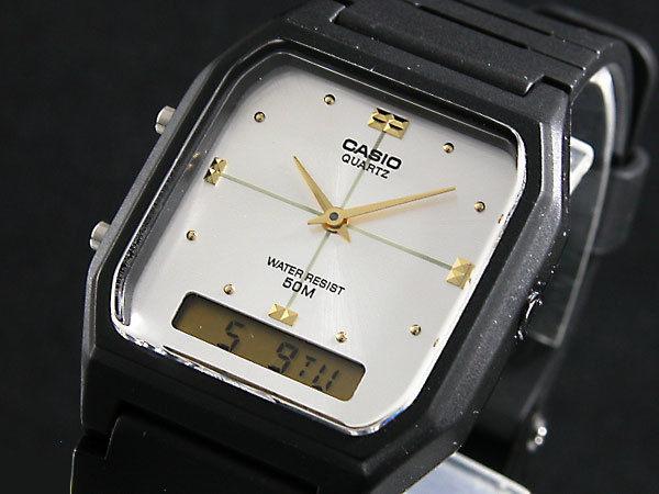 カシオ CASIO アナデジ クオーツ メンズ 腕時計 AW48HE-7A シルバー/ブラック