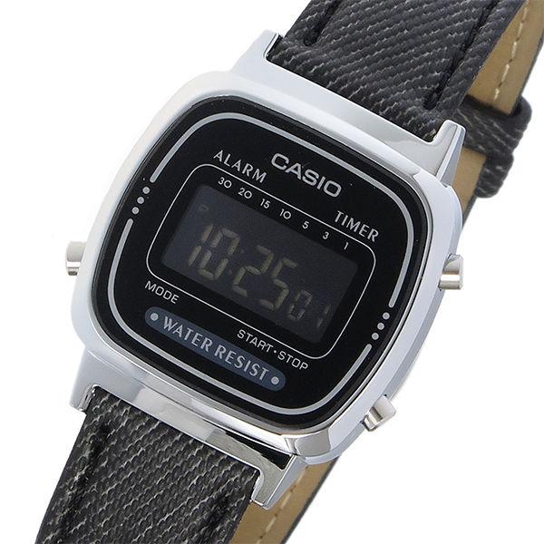 カシオ CASIO スタンダード クオーツ レディース 腕時計 LA670WL-1B ブラックデニム