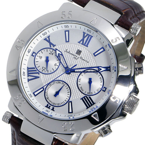 サルバトーレ マーラ クオーツ メンズ 腕時計 SM14118S-SSWH ホワイト