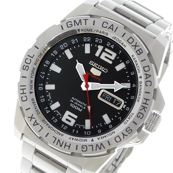 セイコー SEIKO セイコー5 スポーツ SPORTS 自動巻き メンズ 腕時計 SRP683J1 ブラック