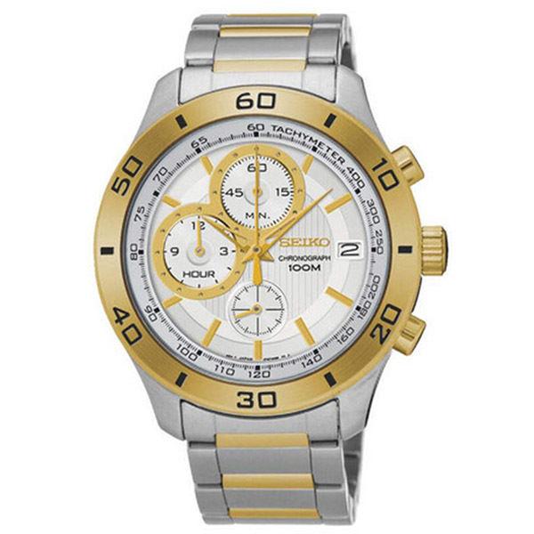 セイコー SEIKO クロノ クオーツ メンズ 腕時計 SSB188P1 シルバー