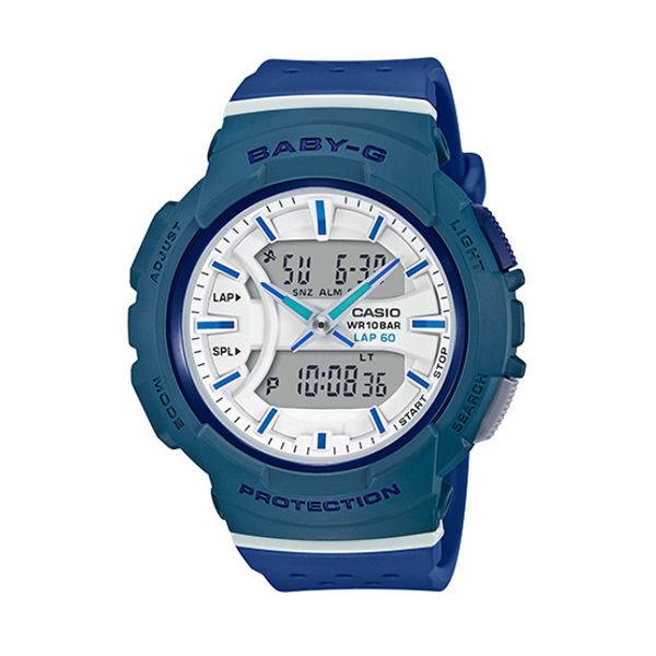 カシオ CASIO ベビーG Baby-G for running アナデジ クオーツ レディース クロノ 腕時計 BGA-240-2A2 ホワイト