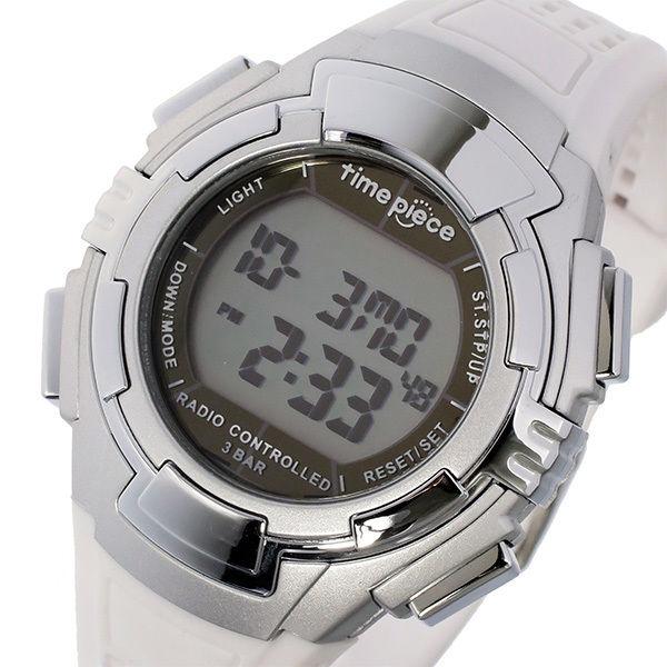 タイムピース TIME PIECE 電波ソーラー デジタル メンズ 腕時計 TPW-002WH ホワイト