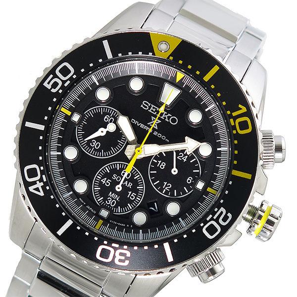 セイコー SEIKO プロスペックス PROSPEX クオーツ メンズ 腕時計 SSC613P1 ブラック